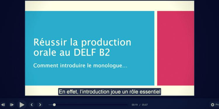 Introduire le monologue au DELF B2