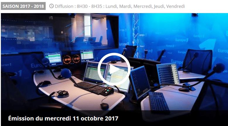 Revue de presse Europe 1