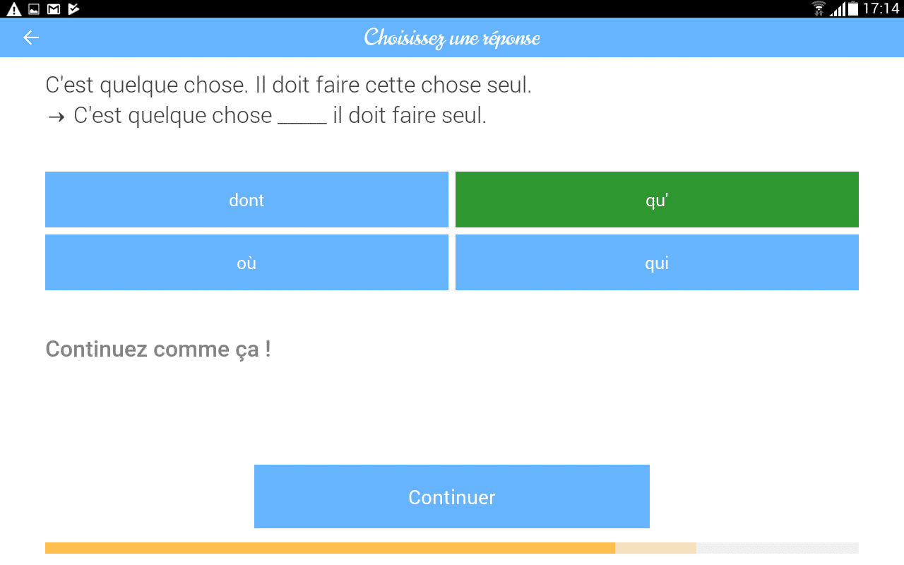 test de l u0026 39 application dr french